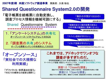 Shared Questionnaire System2.0の開発
