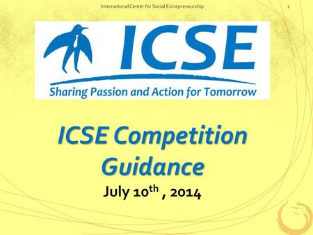 ICSE Competition Guidance