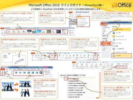 Microsoft Office 2010 クイックガイド ~PowerPoint編~