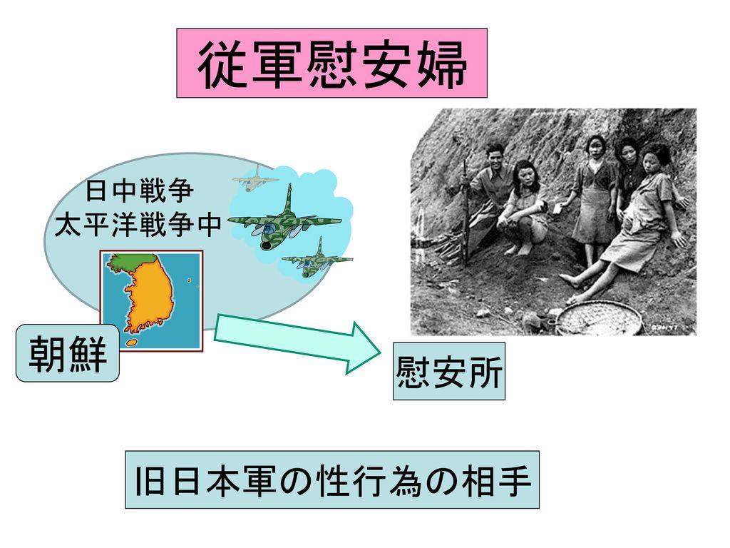 従軍慰安婦 日中戦争 太平洋戦争中 朝鮮 慰安所 旧日本軍の性行為の相手