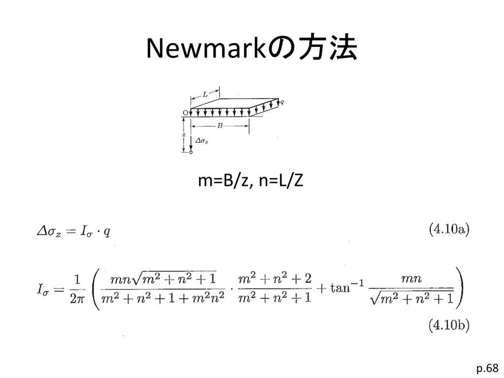 Newmarkの方法 m=B/z, n=L/Z p.68