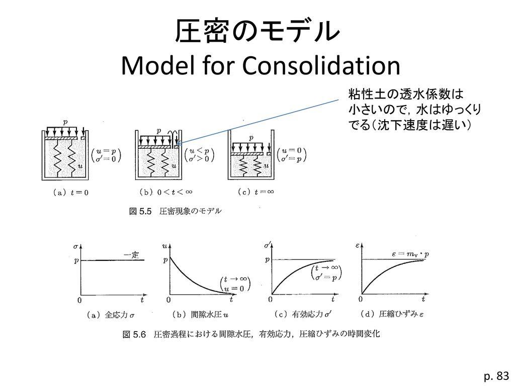 圧密のモデル Model for Consolidation