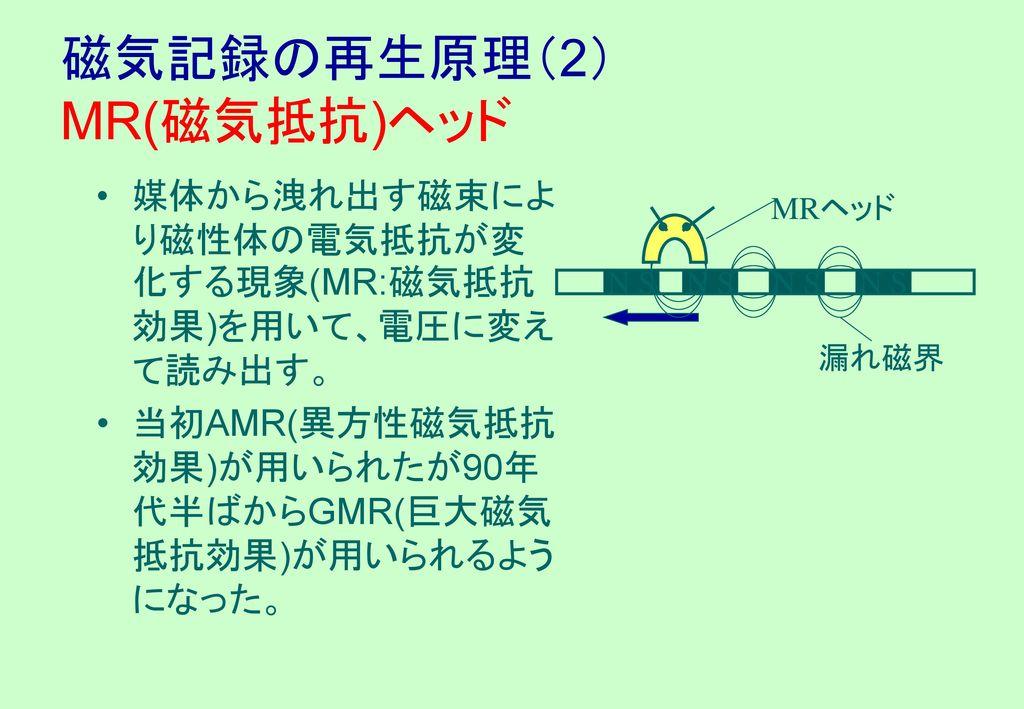 磁気記録の再生原理(2) MR(磁気抵抗)ヘッド