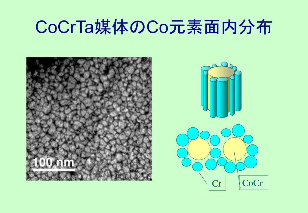 CoCrTa媒体のCo元素面内分布 Cr CoCr