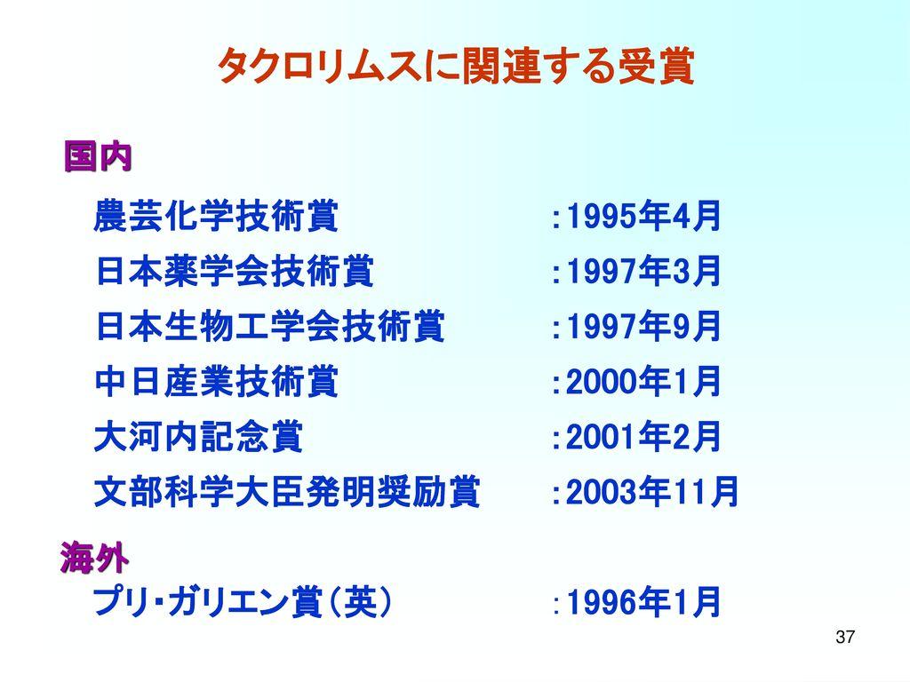 タクロリムスの歴史(2) 1988. 9 Prof. Starzl, FK506 non-commercial IND 申請
