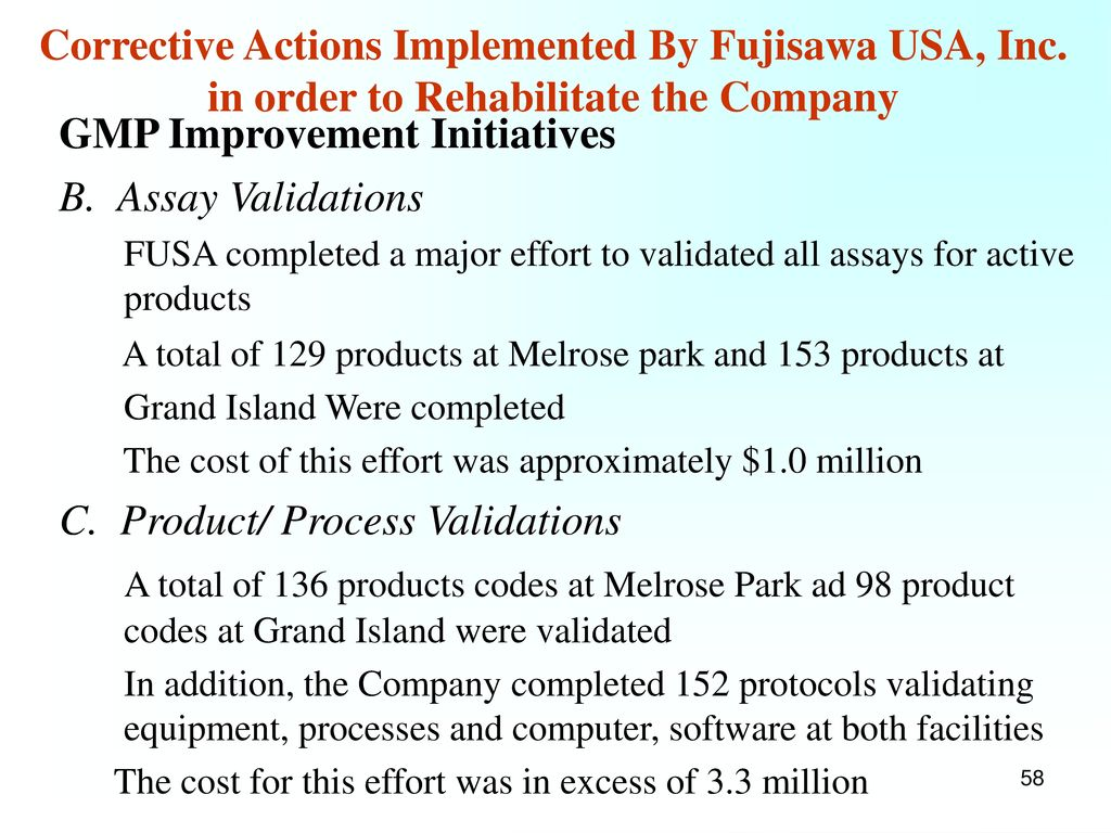 GMP Improvement Initiatives Stability Programs