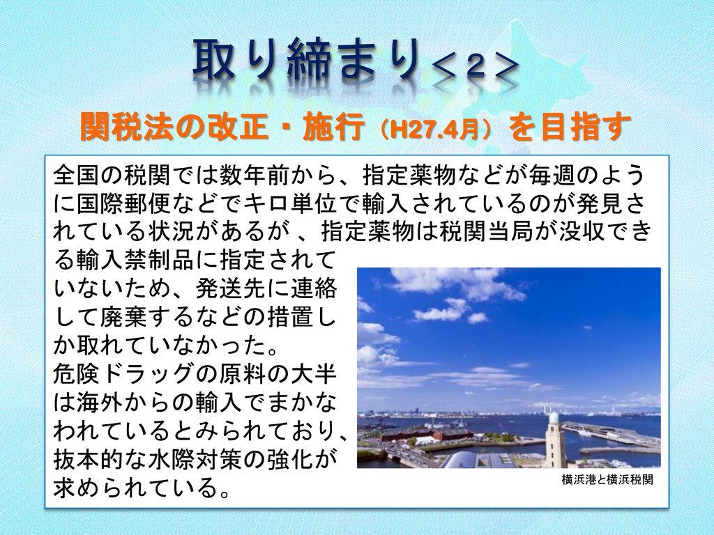 取り締まり<2> 関税法の改正・施行(H27.4月)を目指す