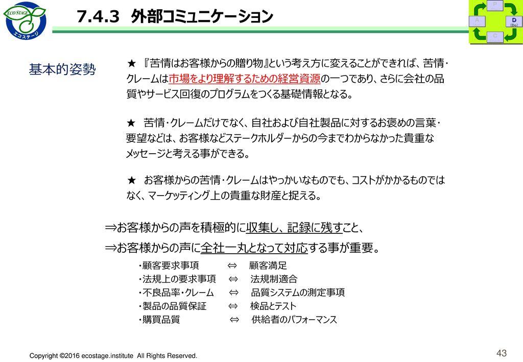 外部 コミュニケーション管理表(例)
