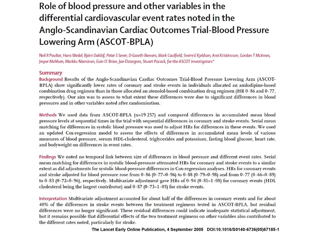 The Lancet Early Online Publication, 4 September 2005 DOI:10