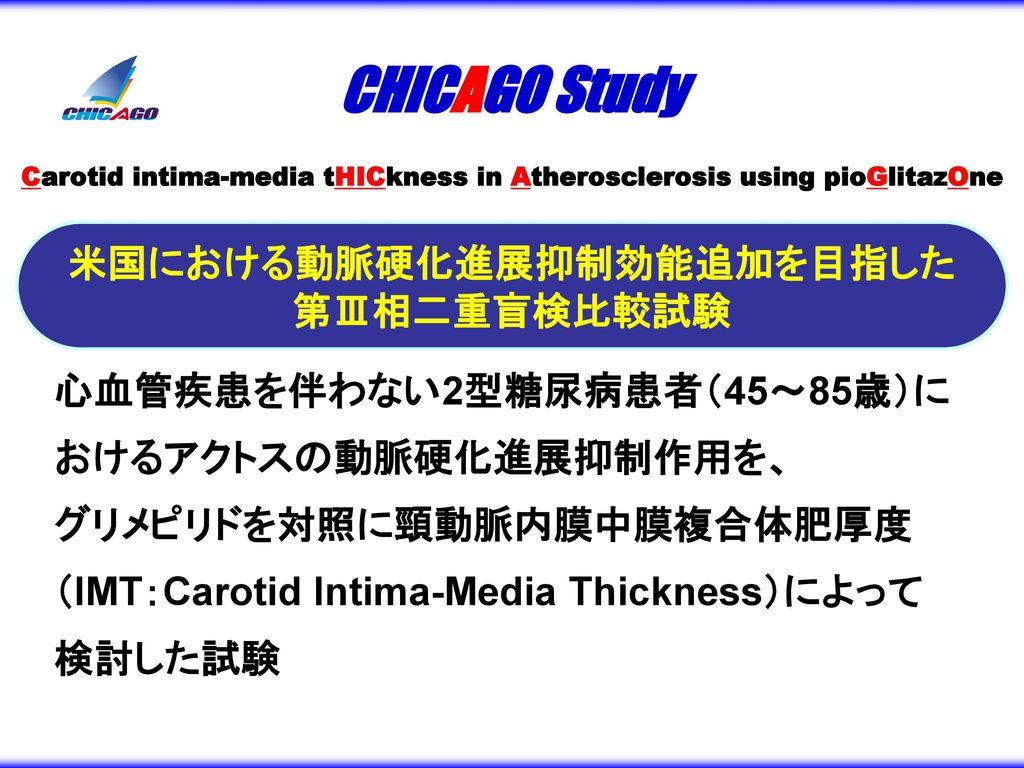 Carotid intima-media tHICkness in Atherosclerosis using pioGlitazOne