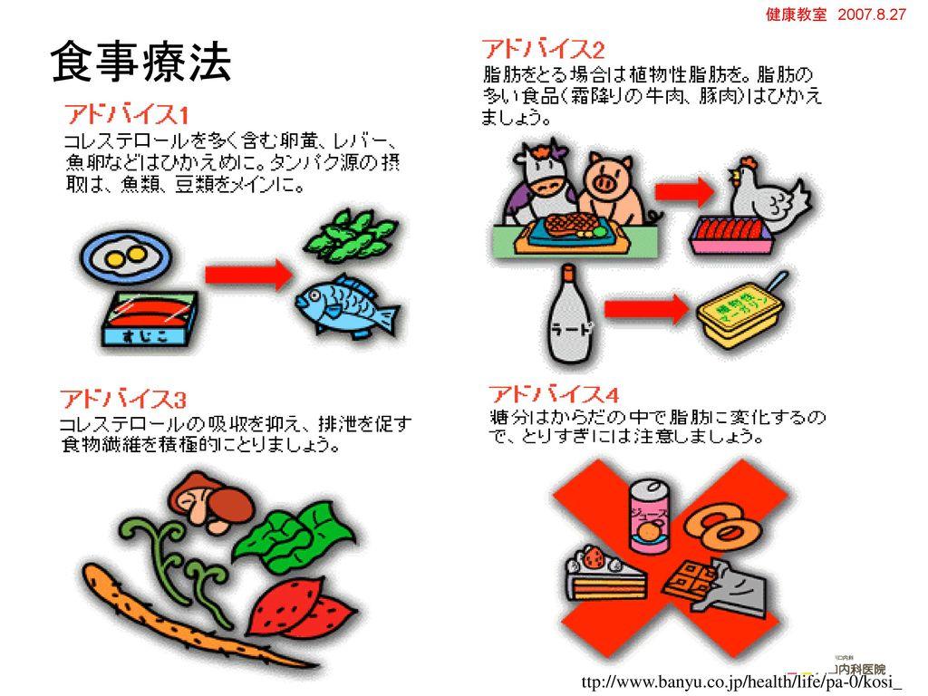 食事療法 ttp://www.banyu.co.jp/health/life/pa-0/kosi_