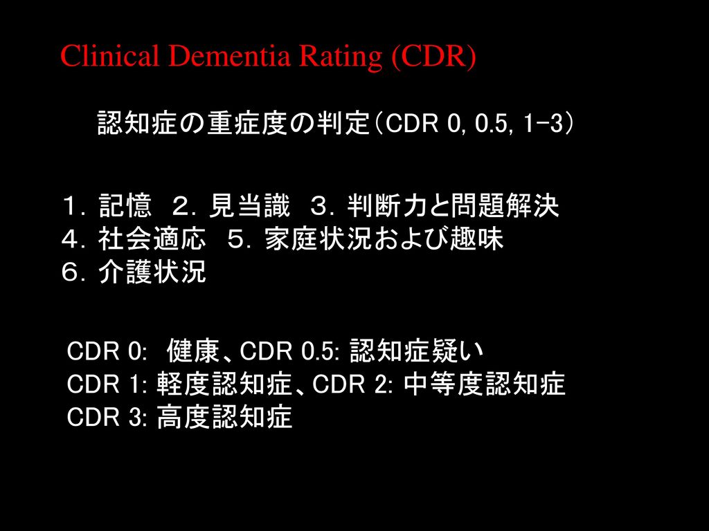 Clinical Dementia Rating (CDR)