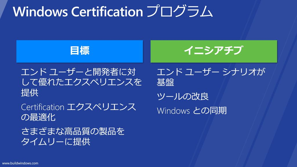 Windows Certification プログラム