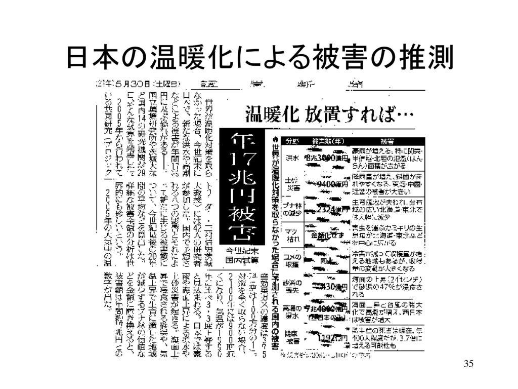 日本の温暖化による被害の推測