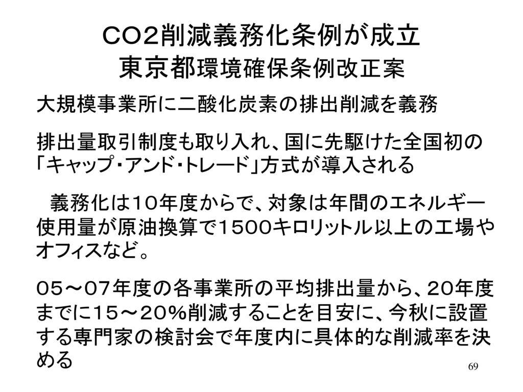 CO2削減義務化条例が成立 東京都環境確保条例改正案