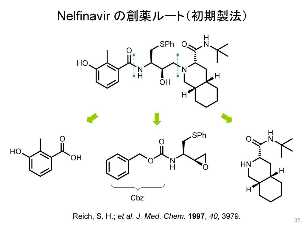 Nelfinavir の創薬ルート(初期製法)