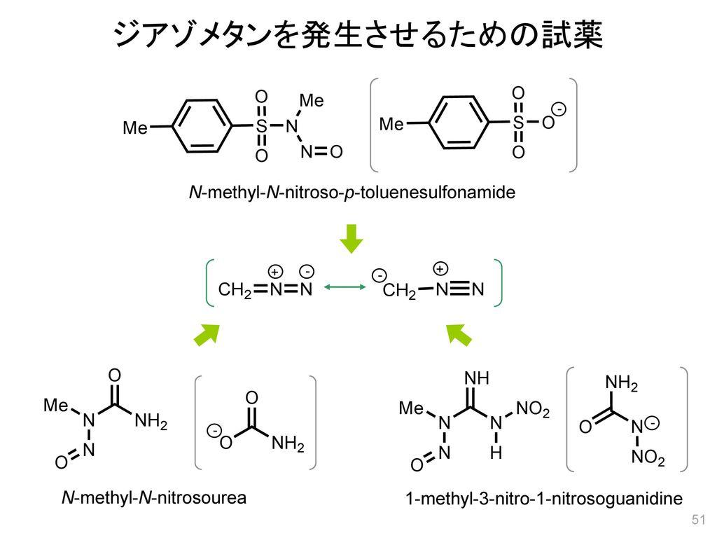ジアゾメタンを発生させるための試薬 N-methyl-N-nitroso-p-toluenesulfonamide