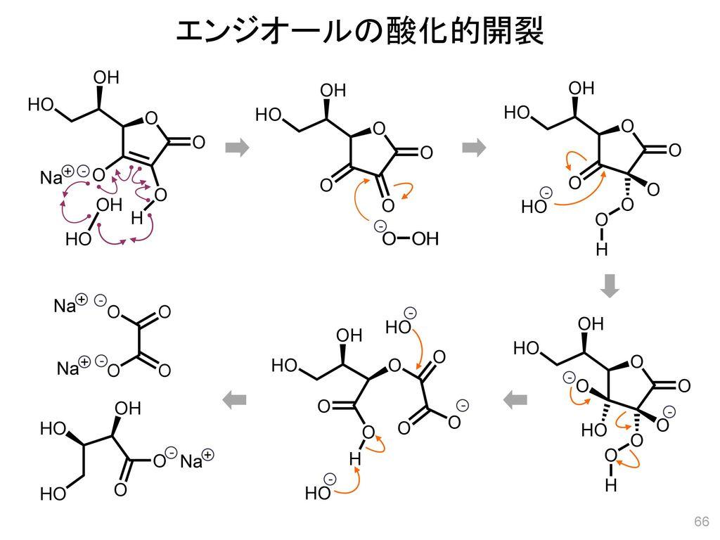 エンジオールの酸化的開裂 Na + - - HO - Na + - - HO + - Na - - - - Na + - HO