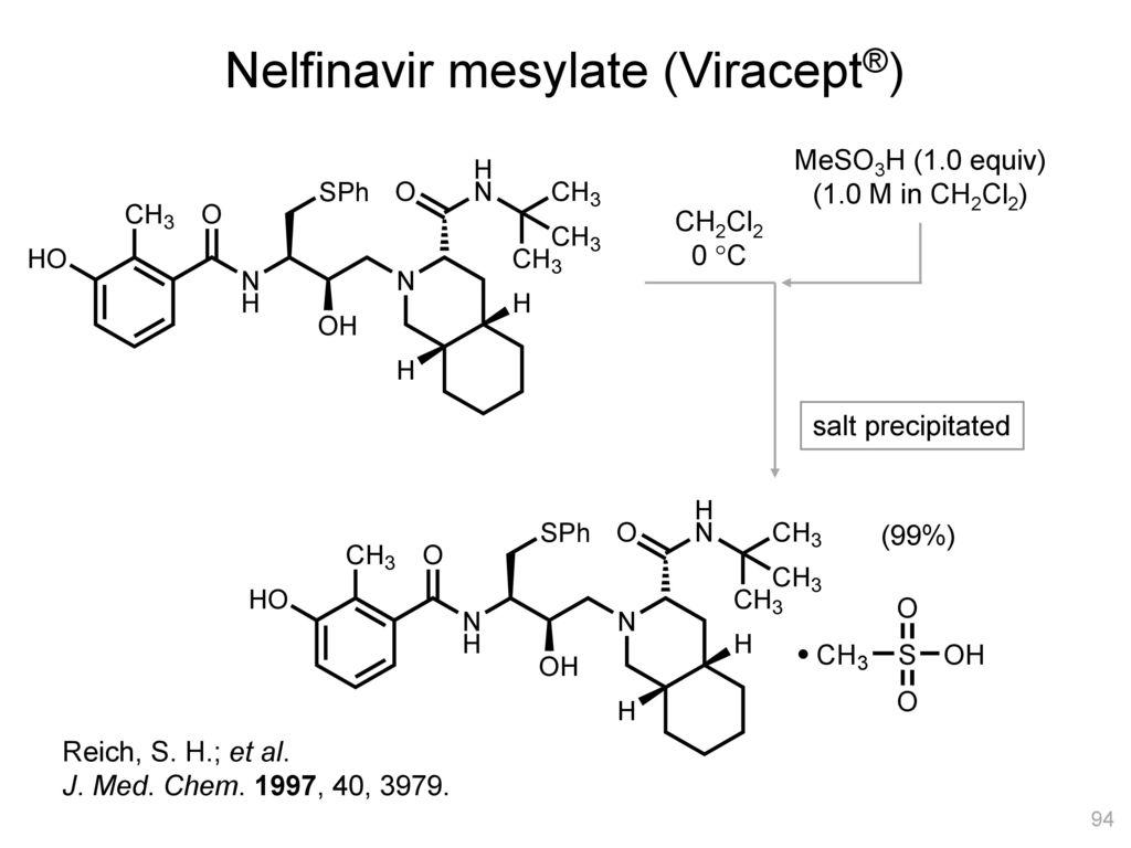 Nelfinavir mesylate (Viracept®)