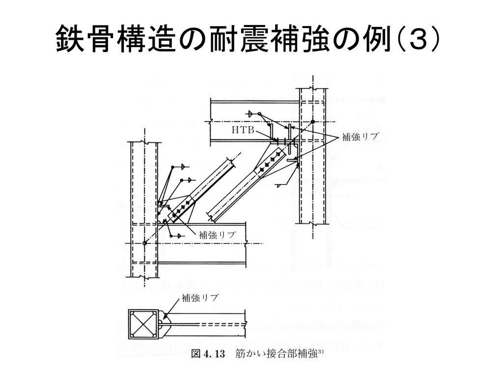 鉄骨構造の耐震補強の例(3)