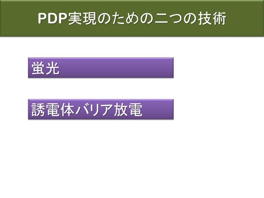 PDP実現のための二つの技術 蛍光 誘電体バリア放電