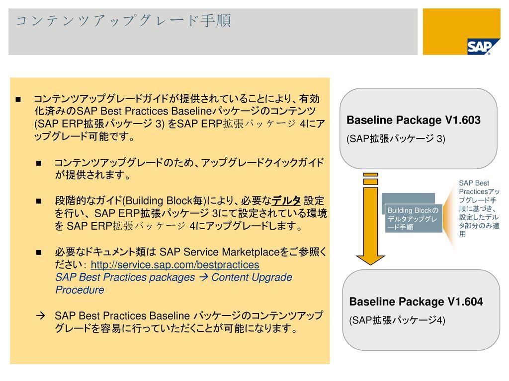 コンテンツアップグレード手順 Baseline Package V1.603 Baseline Package V1.604