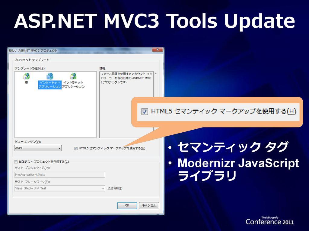 ASP.NET MVC3 Tools Update