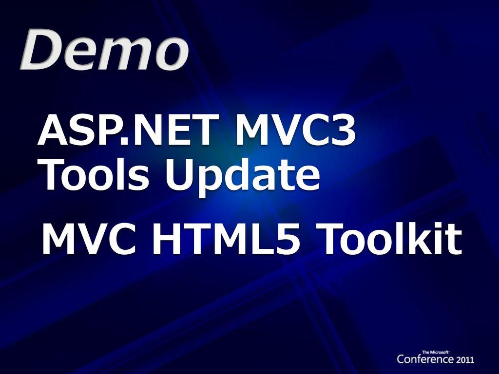 Demo ASP.NET MVC3 Tools Update MVC HTML5 Toolkit
