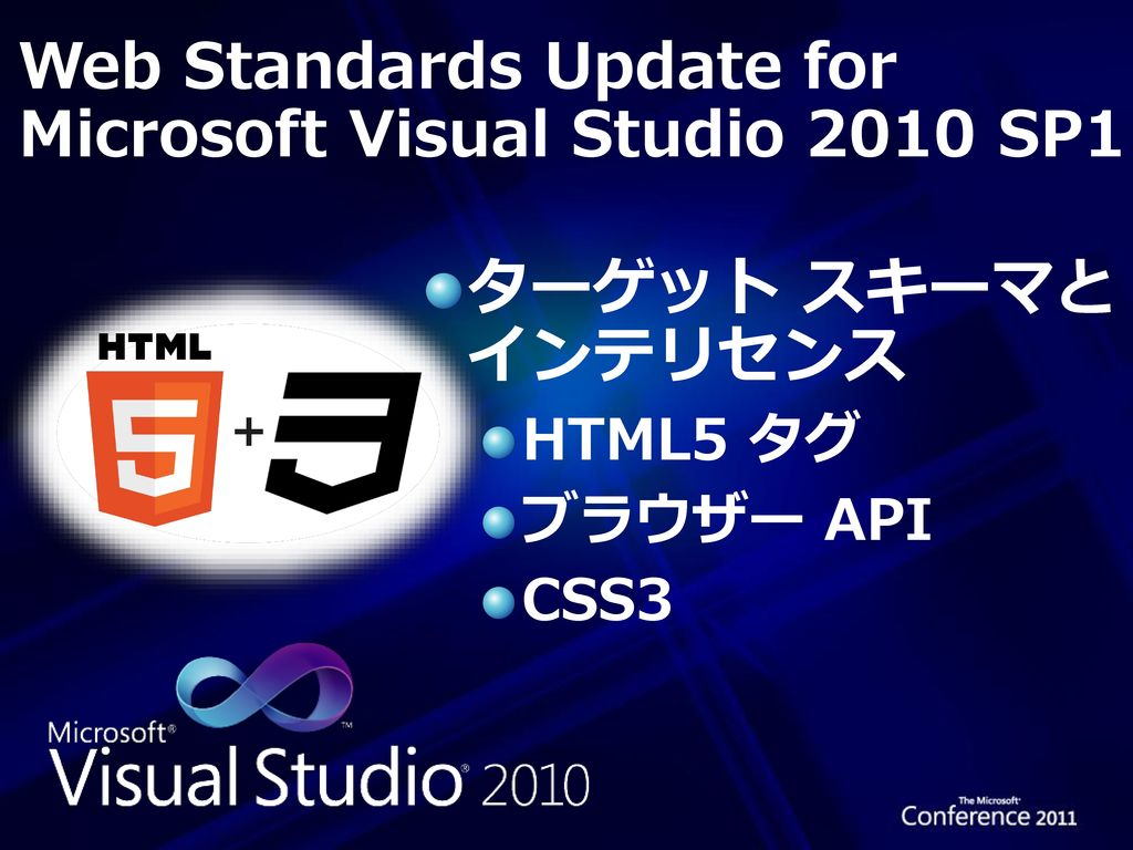 Web Standards Update for Microsoft Visual Studio 2010 SP1