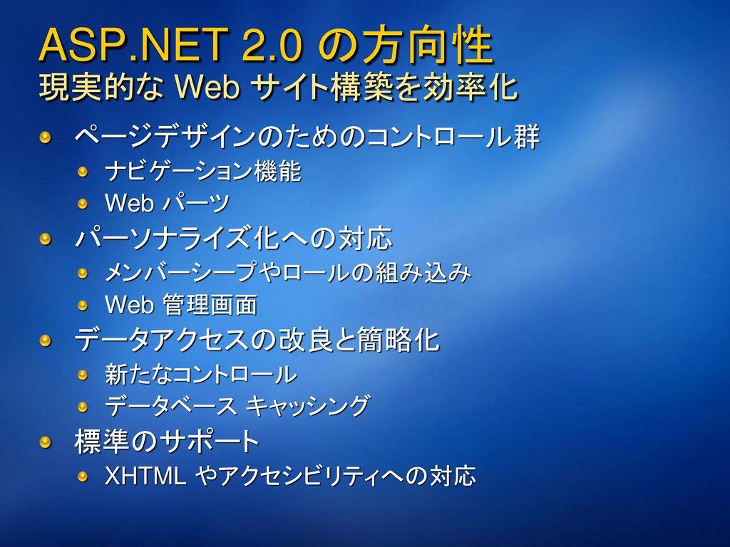 2/28/2017 8:17 PM ASP.NET 2.0 および AJAX.