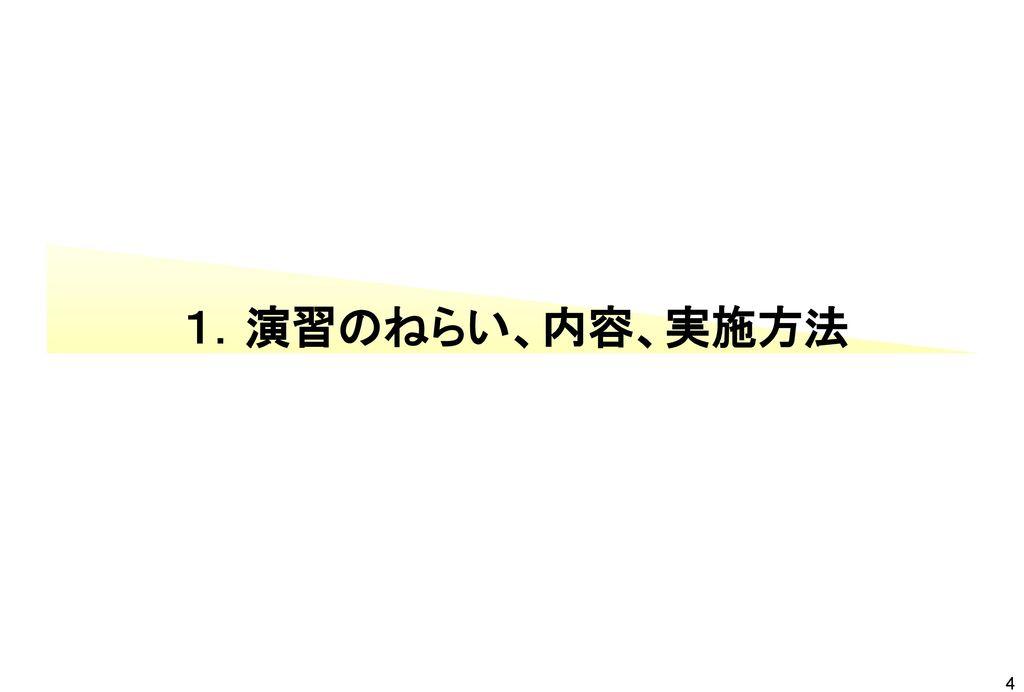 1.演習のねらい、内容、実施方法