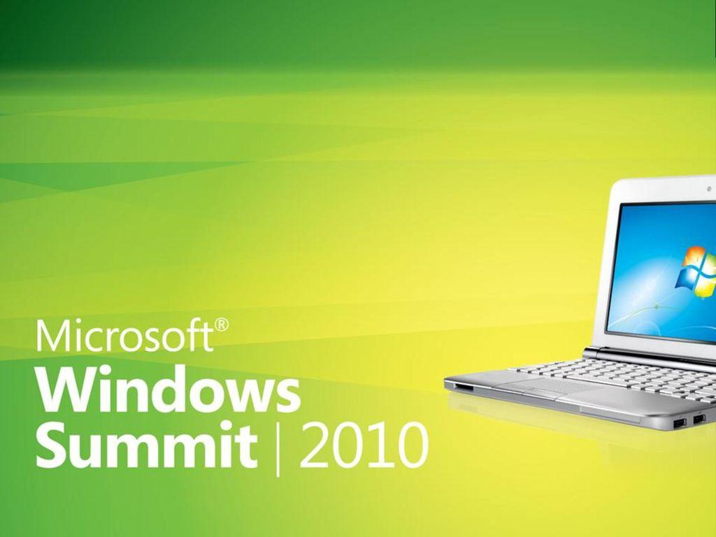 Windows Summit 2010 3/1/2017.