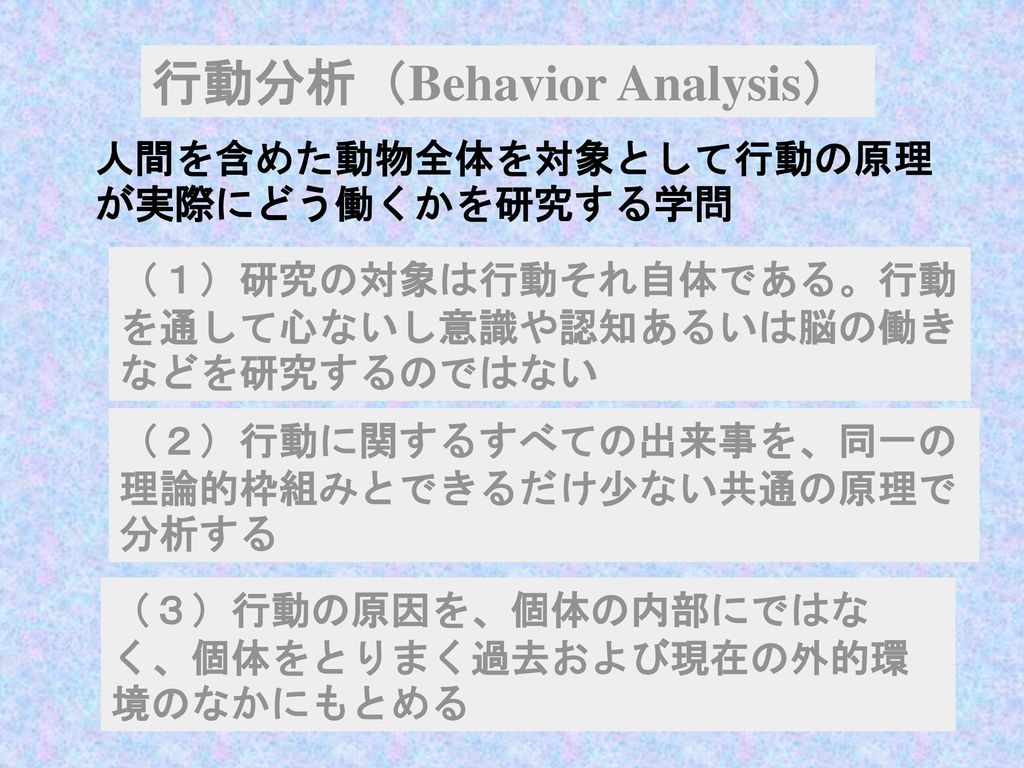 行動分析(Behavior Analysis)