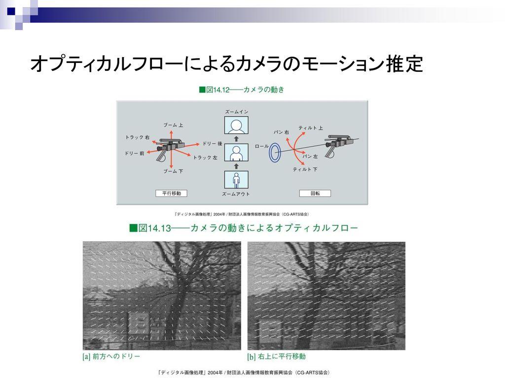 オプティカルフローによるカメラのモーション推定