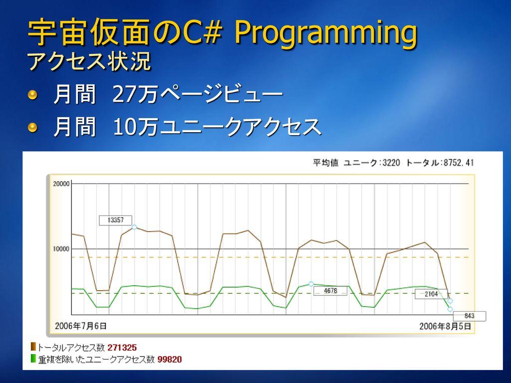 宇宙仮面のC# Programming アクセス状況
