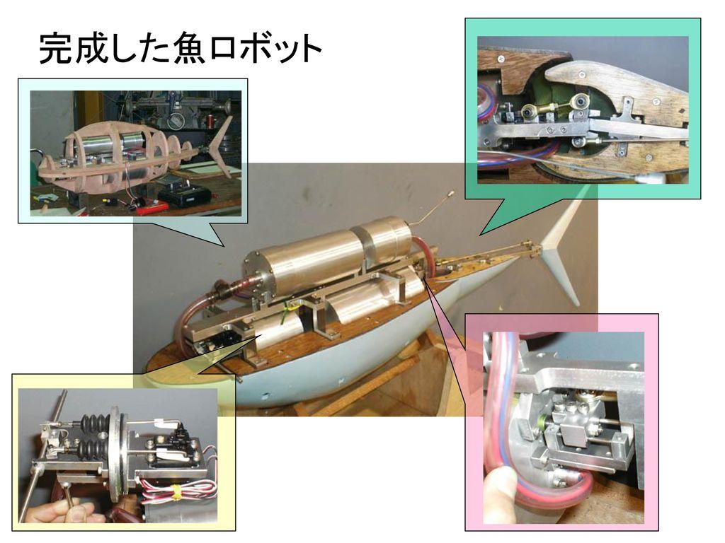 完成した魚ロボット