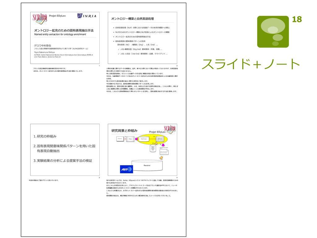 スライド+ノート