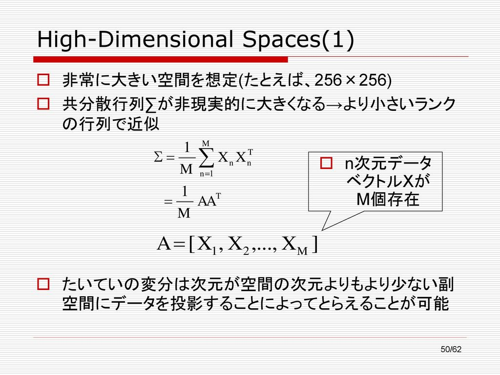 High-Dimensional Spaces(1)
