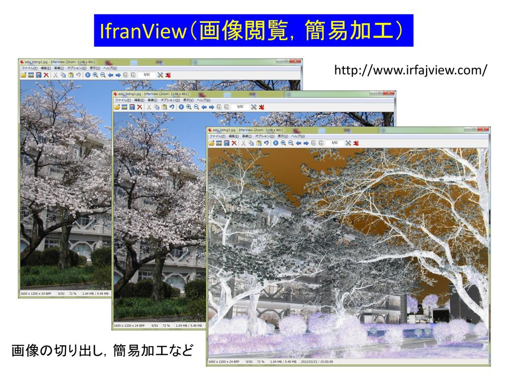 IfranView(画像閲覧,簡易加工)