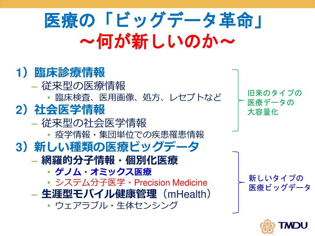医療の「ビッグデータ革命」 ~何が新しいのか~