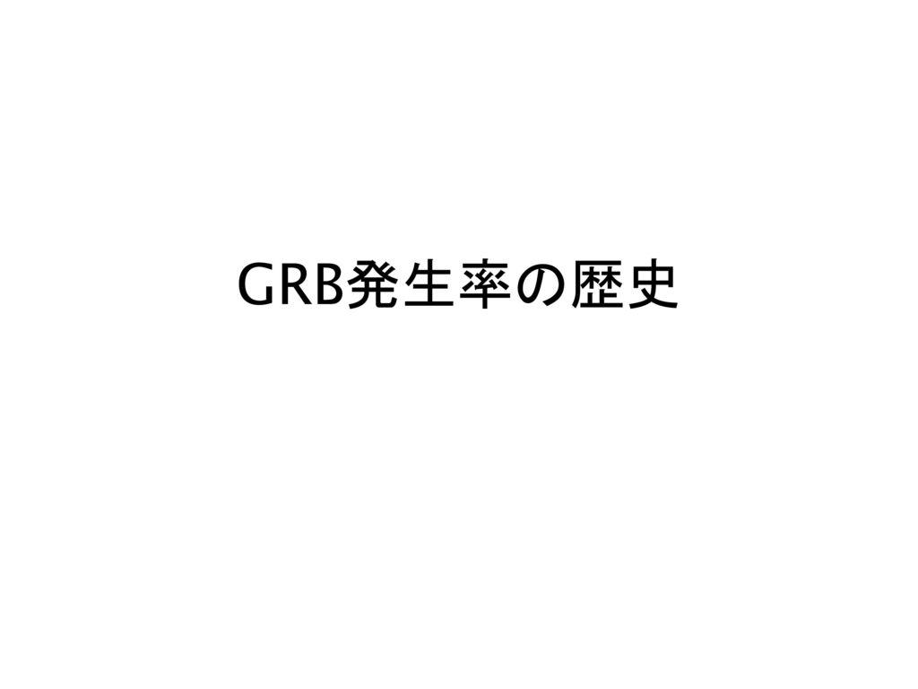 GRB発生率の歴史