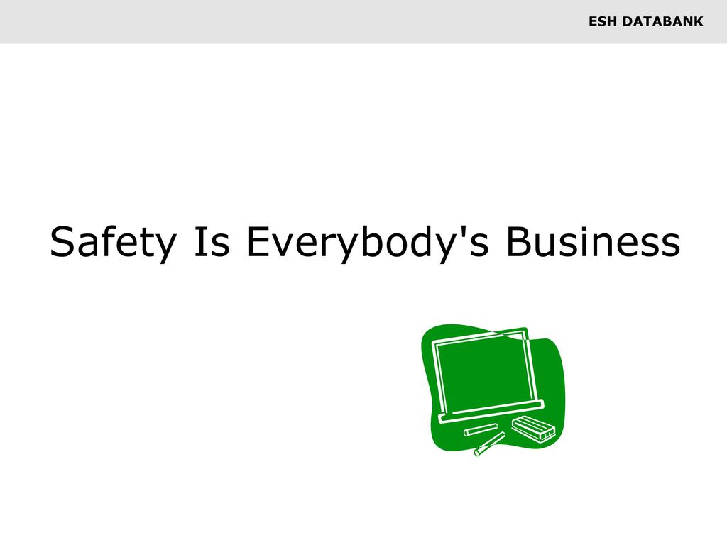 Safety Is Everybody s Business