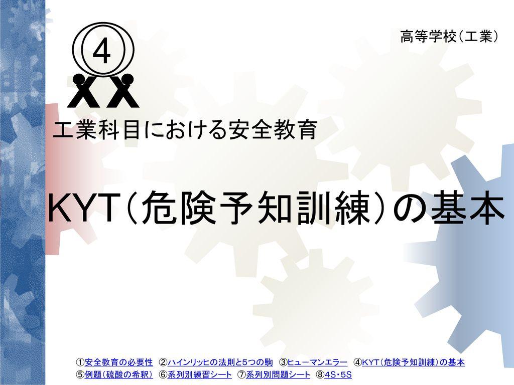 KYT(危険予知訓練)の基本 4 工業科目における安全教育 高等学校(工業) 19