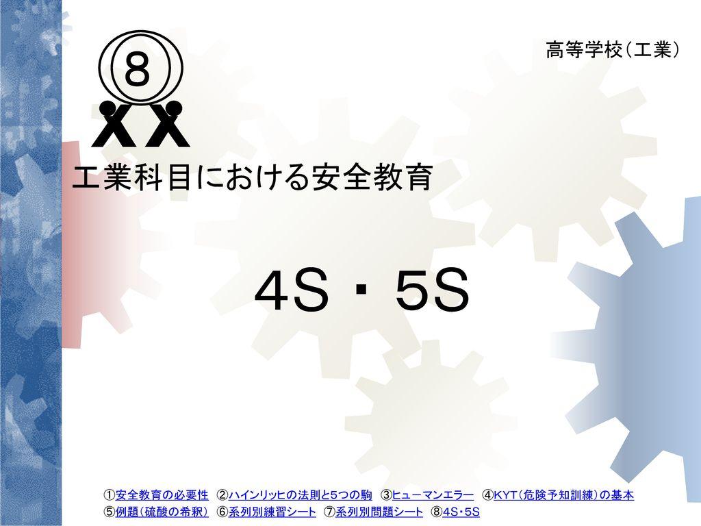 4S ・ 5S 8 工業科目における安全教育 高等学校(工業) 47
