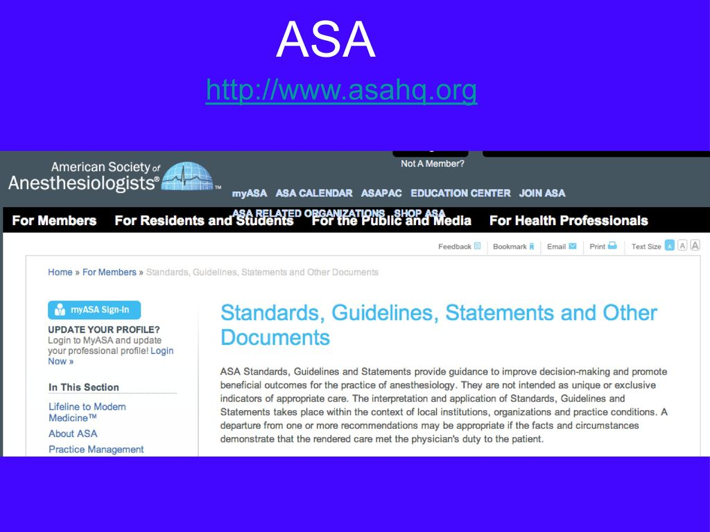 ASA http://www.asahq.org