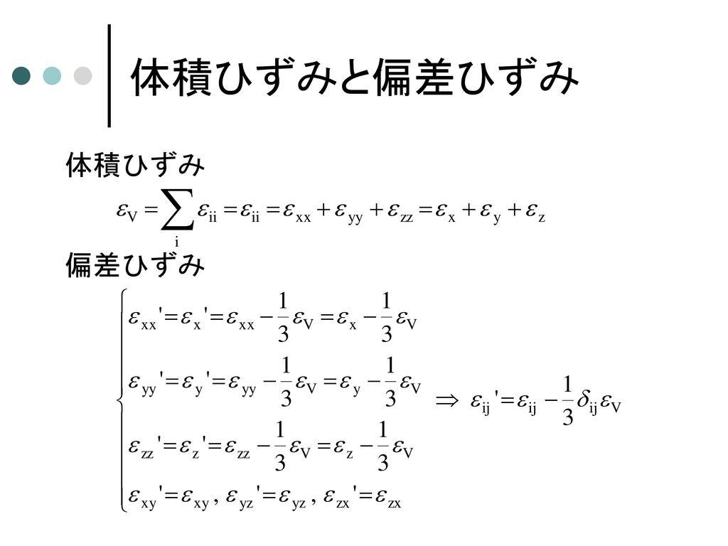 ひずみテンソル (ひずみ-変位の関係式)