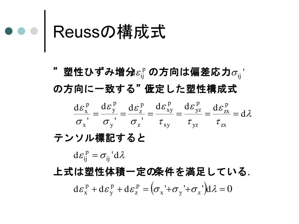 弾性体の構成式 (3) (一般化されたフックの法則)