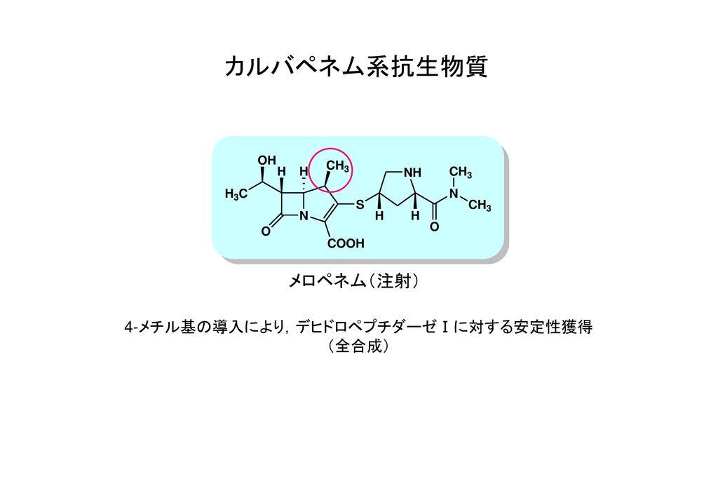 4-メチル基の導入により,デヒドロペプチダーゼⅠに対する安定性獲得