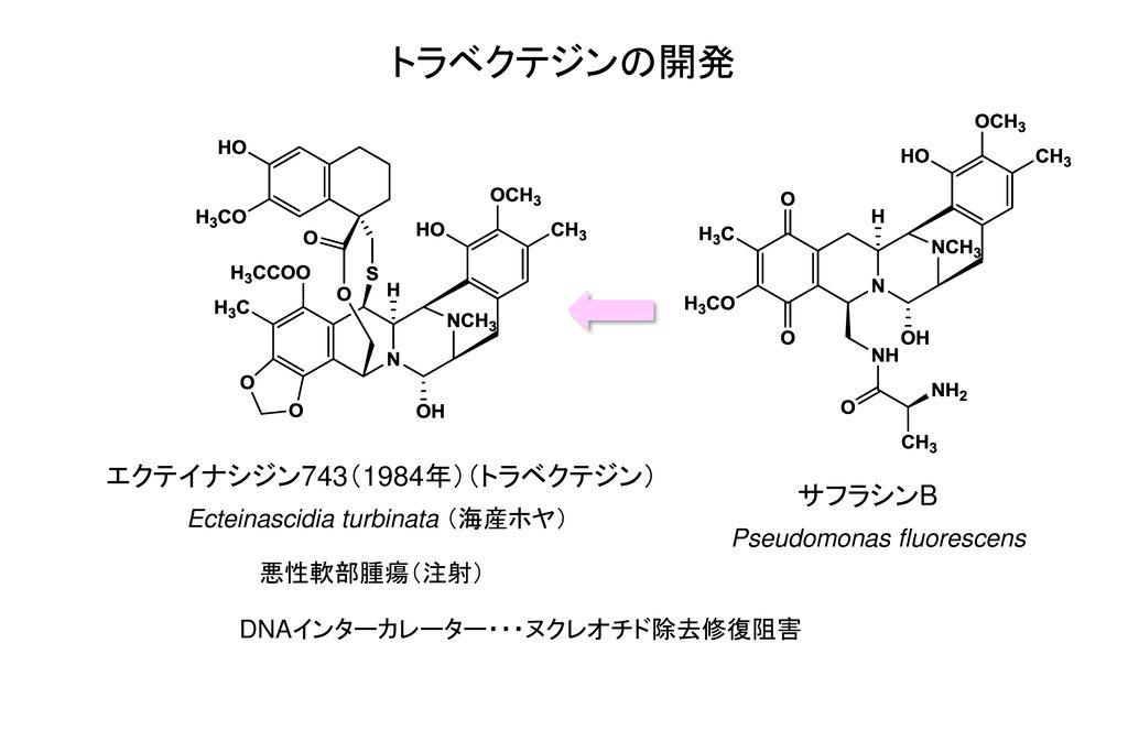 トラベクテジンの開発 エクテイナシジン743(1984年)(トラベクテジン) サフラシンB