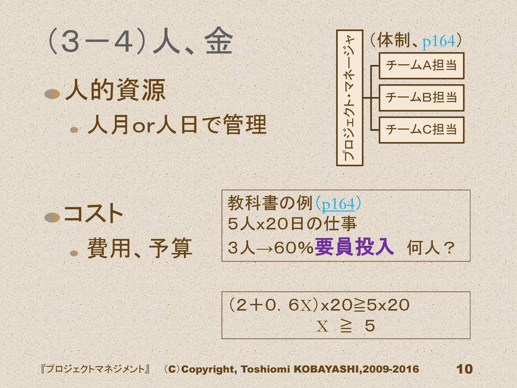 『プロジェクトマネジメント』 (C)Copyright, Toshiomi KOBAYASHI,2009-2016